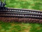 Modellbahnschotter braun Weiche